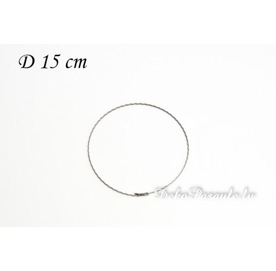 Metal ring, ribbed, Ø 15 cm