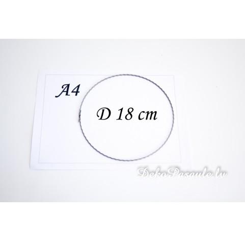 Metal ring, ribbed, Ø 18 cm