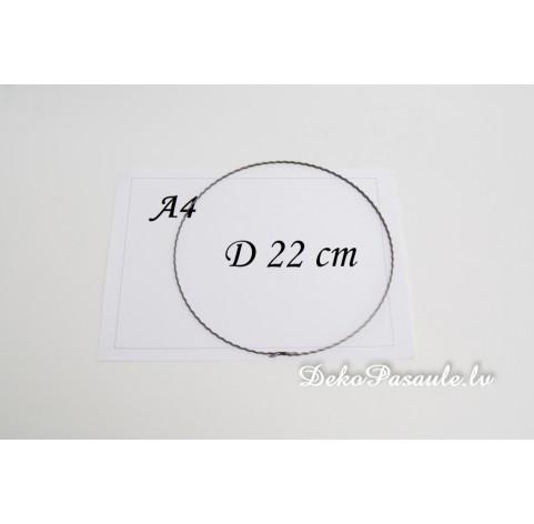 Metal ring, ribbed, Ø 22 cm
