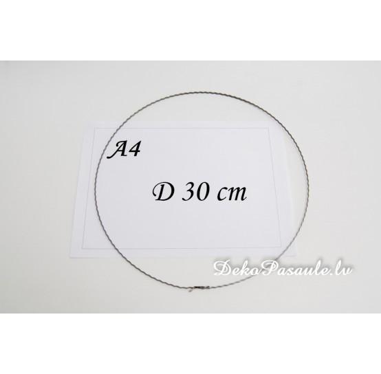 Metal ring, ribbed, Ø 30 cm
