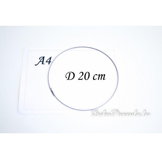 Metal ring, ribbed, Ø 20 cm