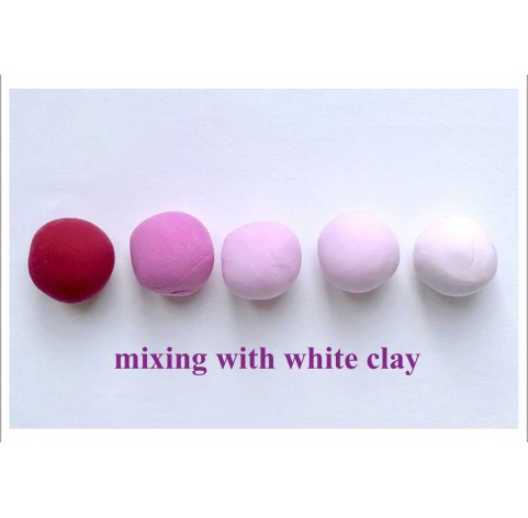 Self-hardening marshmallow polymer clay by DECO, red, 55 g