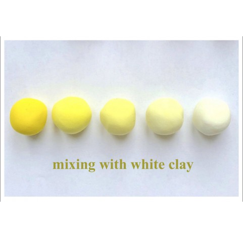 Self-hardening marshmallow polymer clay by DECO, yellow, 55 g