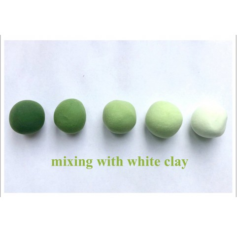 Self-hardening marshmallow polymer clay by DECO, green, 55 g