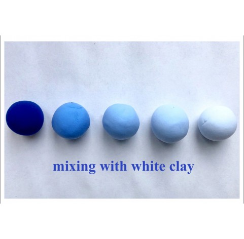 Self-hardening marshmallow polymer clay by DECO, blue, 55 g