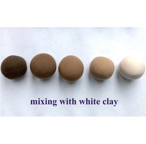 Self-hardening marshmallow polymer clay by DECO, brown, 55 g