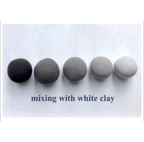 Self-hardening marshmallow polymer clay by DECO, black, 55 g