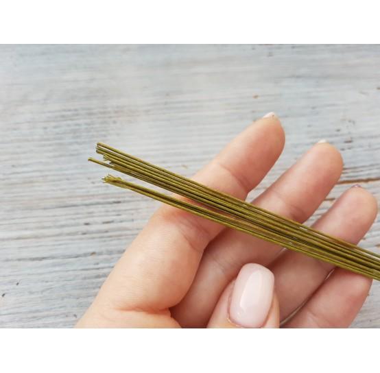 Floristic wire, green, size 22, 100 pcs