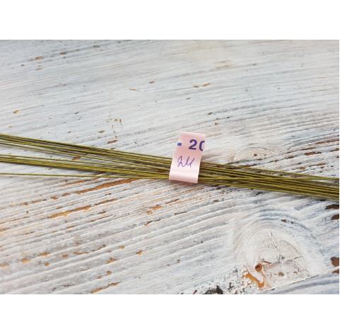 Floristic wire, green, size 24, 10 pcs
