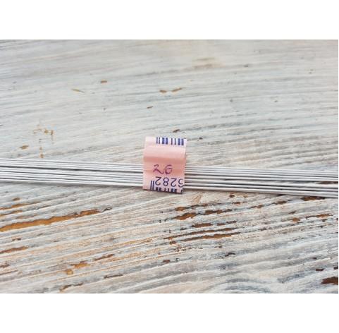 Floristic wire, white, size 26, 10 pcs.