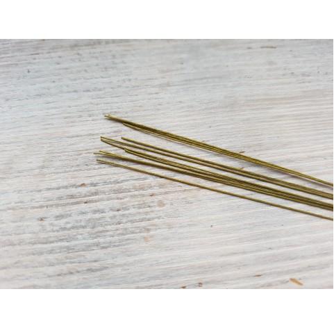 Floristic wire, green, size 28, 10 pcs