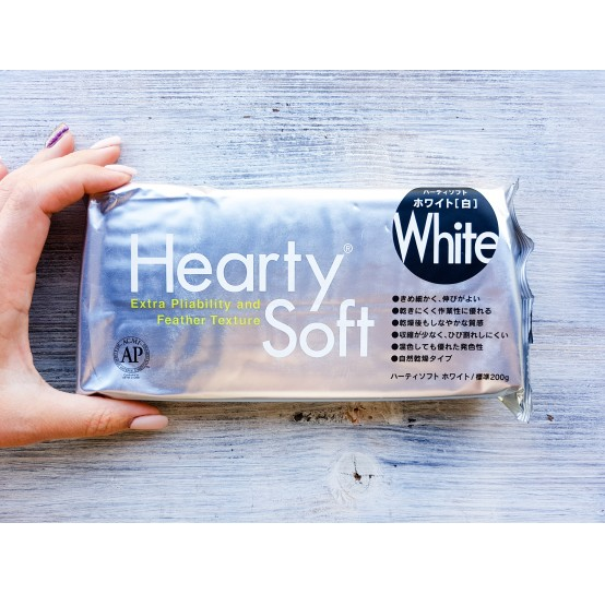 Padico modeling clay Hearty Soft, white, 200 g