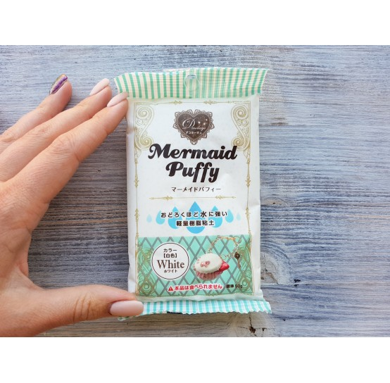 Padico modeling clay Mermaid Puffy, white, 50 g