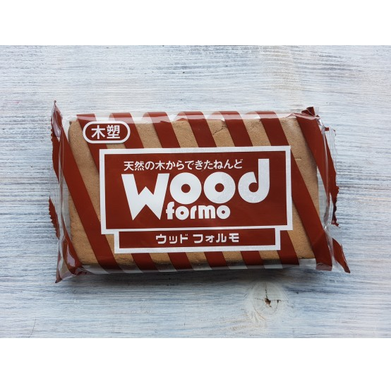 Padico modeling clay Wood Formo, brown, 500 g