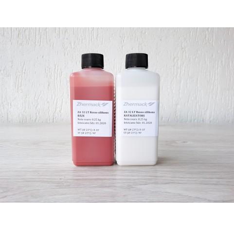 Silicone on platinum catalyst, Zhermack ZA 32 LT ROSSO (food grade), terakota, 500 g