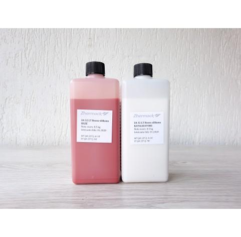 Silicone on platinum catalyst, Zhermack ZA 32 LT ROSSO (food grade), terakota, 1 kg