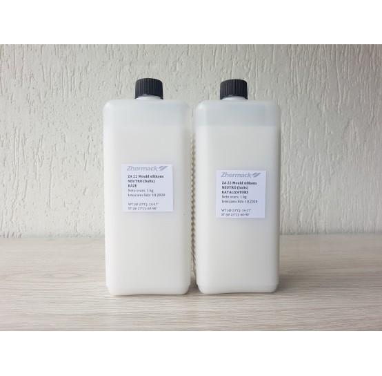 Silicone on platinum catalyst, Zhermack ZA 22 MOULD NEUTRO, white, 2 kg