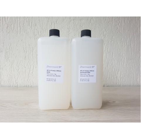 Silicone on platinum catalyst, Zhermack HT 24, Transparent, 2 kg
