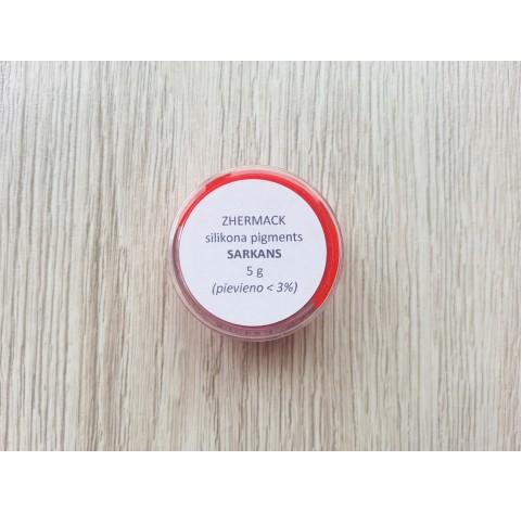 Silicone pigment on platinum catalyst, red, 5 g