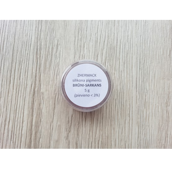 Silicone pigment on platinum catalyst, brown-red, 5 g