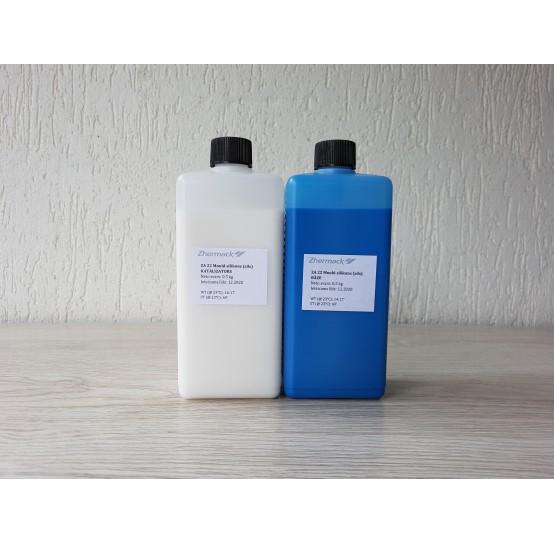 Silicone on platinum catalyst, Zhermack ZA 22 MOULD, blue, 1 kg