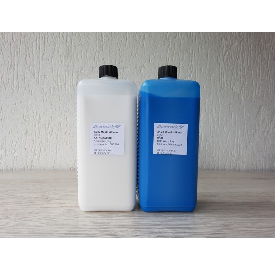 Silicone on platinum catalyst, Zhermack ZA 22 MOULD, blue, 2 kg
