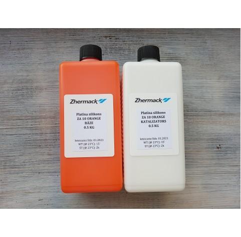 Silicone on platinum catalyst, Zhermack ZA 10, orange, 1 kg