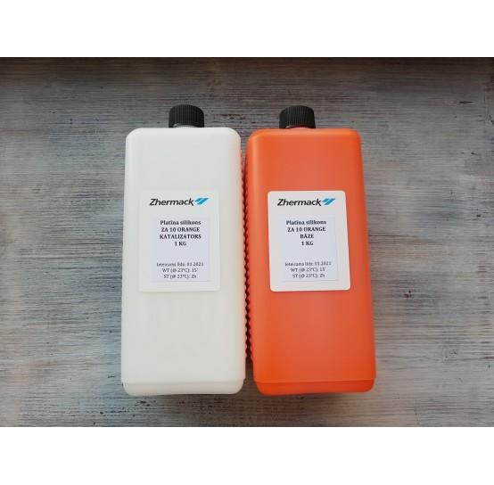 Silicone on platinum catalyst, Zhermack ZA 10, orange, 2 kg