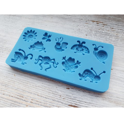 Silicone mold, insects, ~ 1.3-2.8 cm