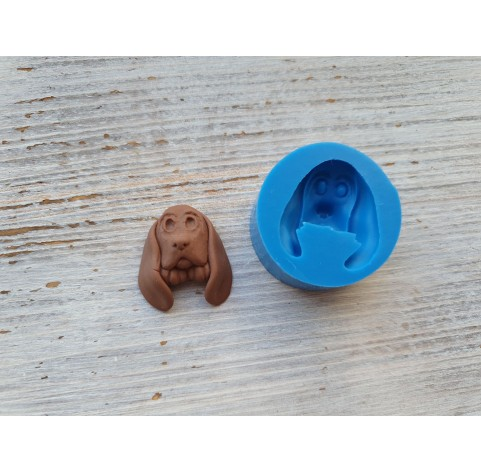 Silicone mold, dog (breed Basset Hound), ~ 2.5*2.8 cm