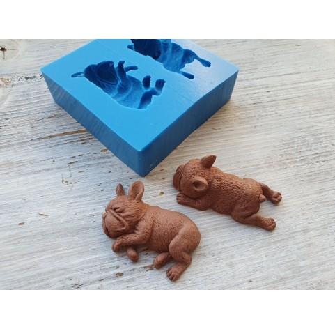 Silicone mold, dogs, 2 pcs., French Bulldog, ~ 4.2*2.2 cm