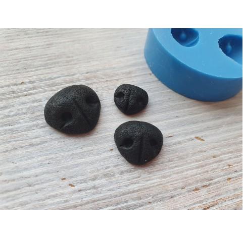 Silicone mold, dog's nose, 3 pcs., ~ 1-1.8 cm