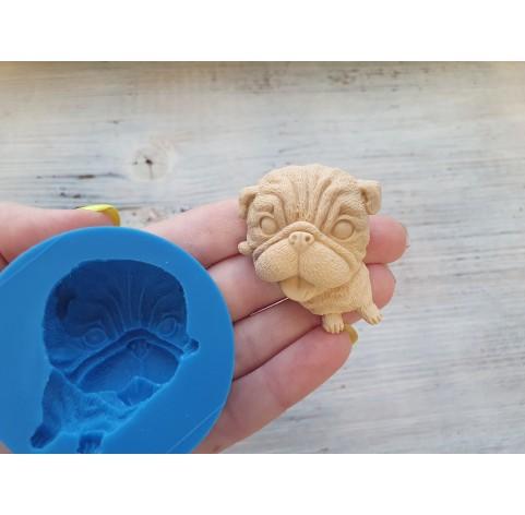 Silicone mold, dog, pug, ~ 3.5*4.5 cm