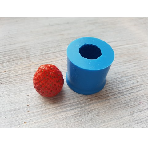 Silicone mold whole strawberry, 1 berry, XL, ~ Ø 2.4 cm