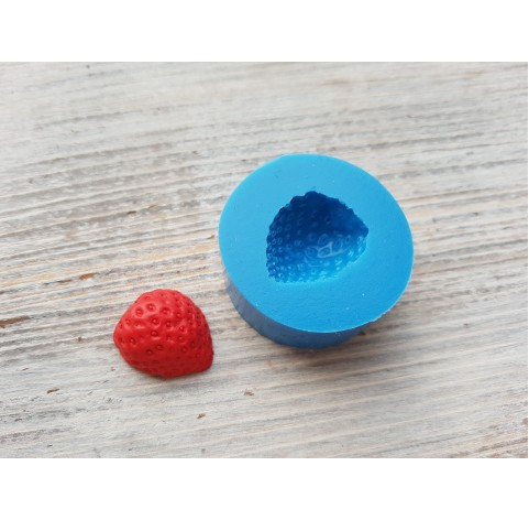 Silicone mold half of strawberry, natural, 1 piece, ~ Ø 1.7 cm