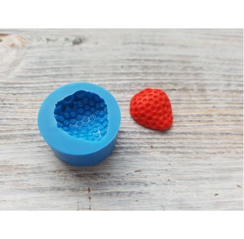 Silicone mold half of strawberry, artificial, 1 piece, ~ Ø 1.7-1.8 cm