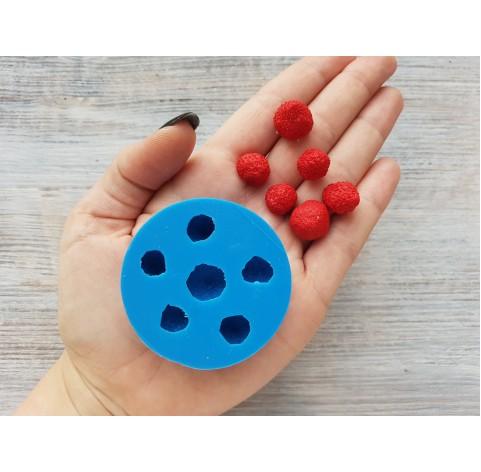 Silicone mold garden strawberries, 6 berries, ~ Ø 1.1-1.5 cm