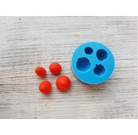 Silicone mold garden strawberries, 4 berries, ~ Ø 0.9-1.5 cm