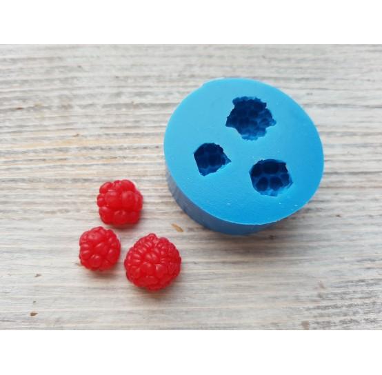 Silicone mold raspberry, 3 berries, S, ~ Ø 0.9-1.2 cm