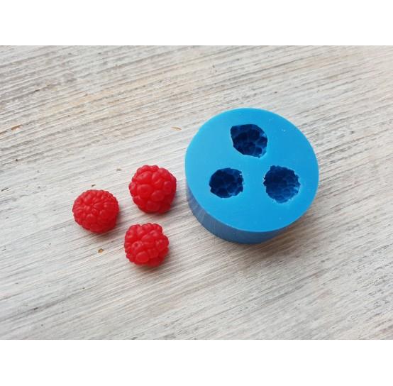 Silicone mold raspberry, 3 berries, M, ~ Ø 1.2-1.4 cm
