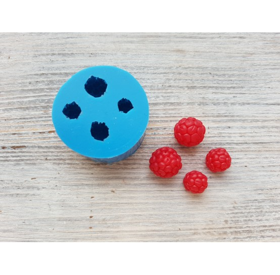 Silicone mold handmade raspberry, 4 berries, ~ Ø 1-1.4 cm
