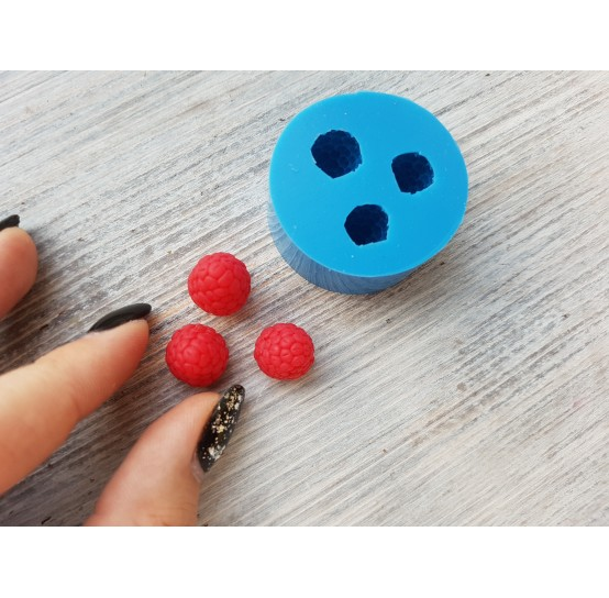 Silicone mold raspberry, conical, handmade, 3 berries, small, ~ Ø 1.2-1.5 cm