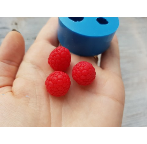 Silicone mold raspberry, conical, handmade, 3 berries, large, ~ Ø 1.5-1.8 cm