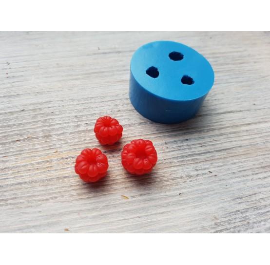 Silicone mold raspberry, reversed berries, handmade, 3 berries, ~ Ø 1.3 - 1.5 cm