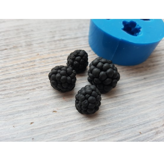 Silicone mold blackberry, 4 berries, ~ Ø 1-1.5 cm