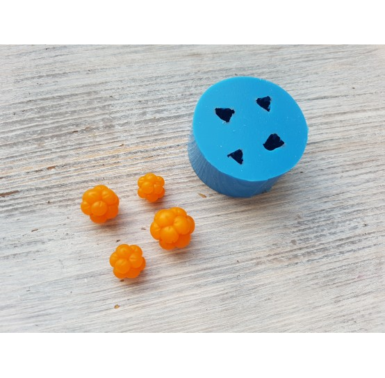 Silicone mold cloudberries, 4 berries, ~ Ø 0.9-1.6 cm