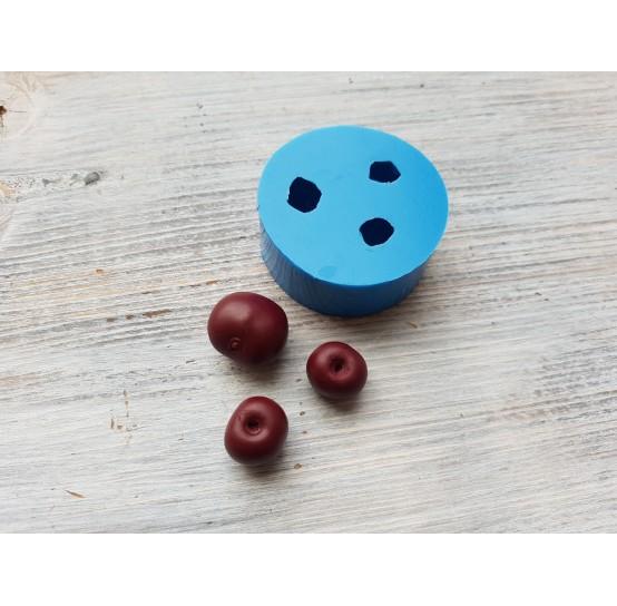 Silicone mold cherries, 3 berries, ~ Ø 1.7-2.1 cm