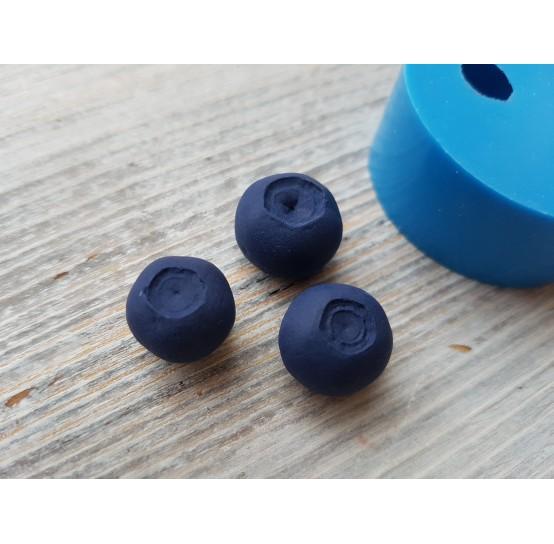 Silicone mold garden blueberry, 3 berries, ~ Ø 1.3-1.5 cm