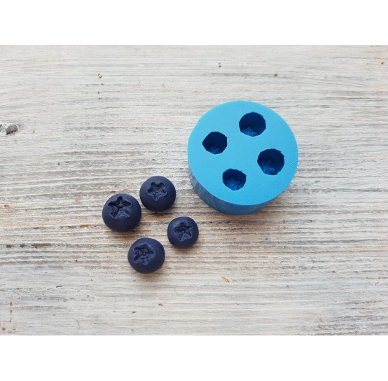 Silicone mold handmade blueberry, 4 berries, ~ Ø 1.2 - 1.5 cm
