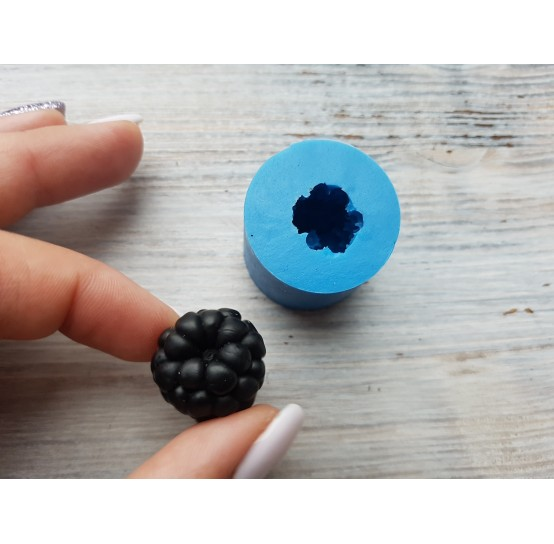 Silicone mold blackberry, reverse side, natural, large, 1 berry, ~ Ø 2-2.1 cm